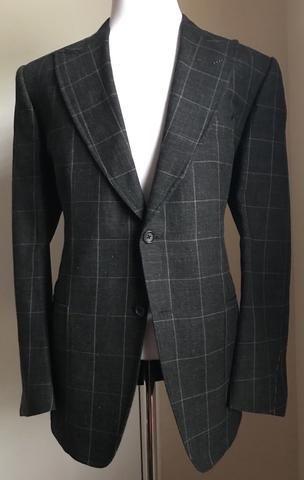 New $3960 Tom Ford Sport Coat Blazer Jacket DK Gray 46 US ( 56 Eu ) Italy