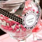 Pink & White Candy Buffet for Baby Shower