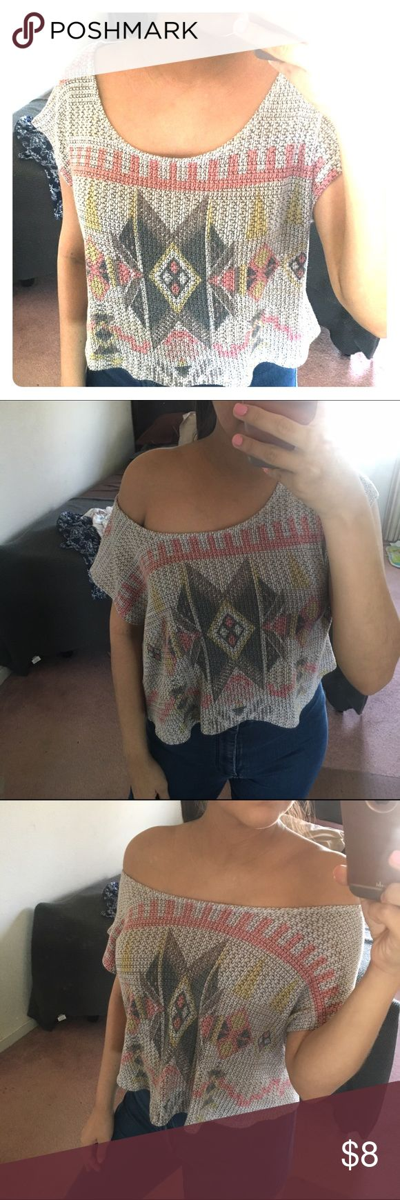 Tribal shirt Super cute and used for different styles as shown in photo. NO damages or rips. Love Culture Tops Crop Tops