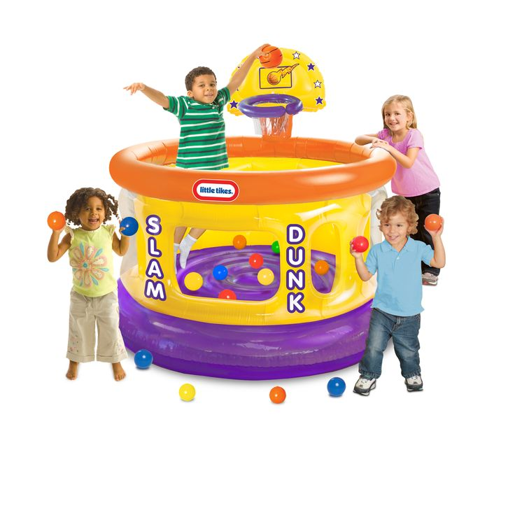 Your little athlete will love making memories with the Little Tikes Slam Dunk Big Ball Pit. It offers a safe and fun place for him or her to play. Your youngster will enjoy the challenge of shooting t