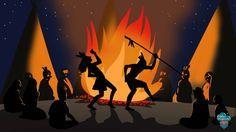 Danse tribale indiens sioux