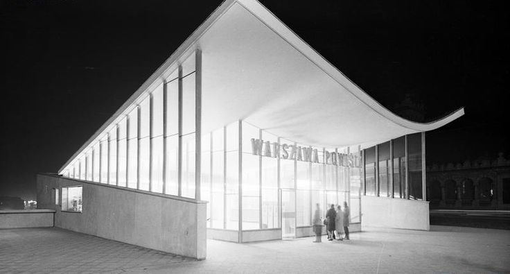 "Górny pawilon PKP Powiśle, Warszawa, 1963 / Railway station ""Powiśle"" - upper pavilion, Warsaw, Poland, 1963"