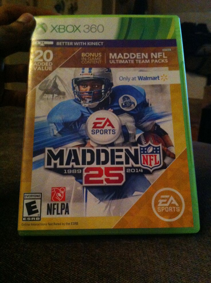 Madden NFL 25 on Xbox 360. Also keep in mind that madden 15 will only be on the ps4 & Xbox one.