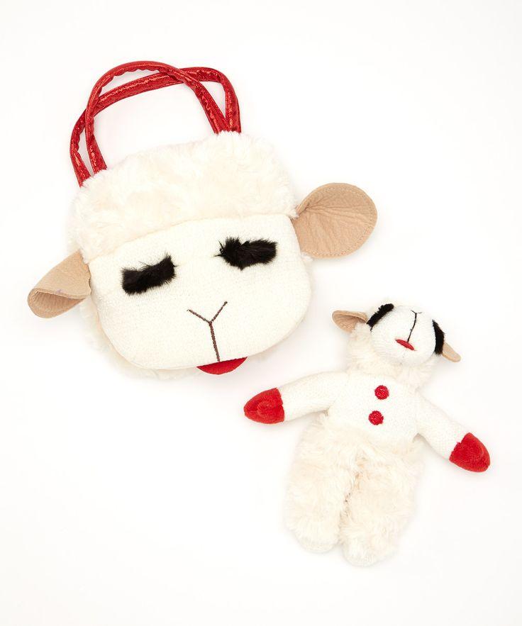 Lamb Chop Plush & Puppet Carrier