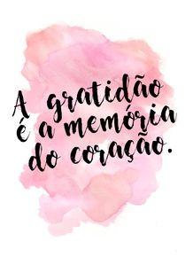 GRATIDÃO É AMOR