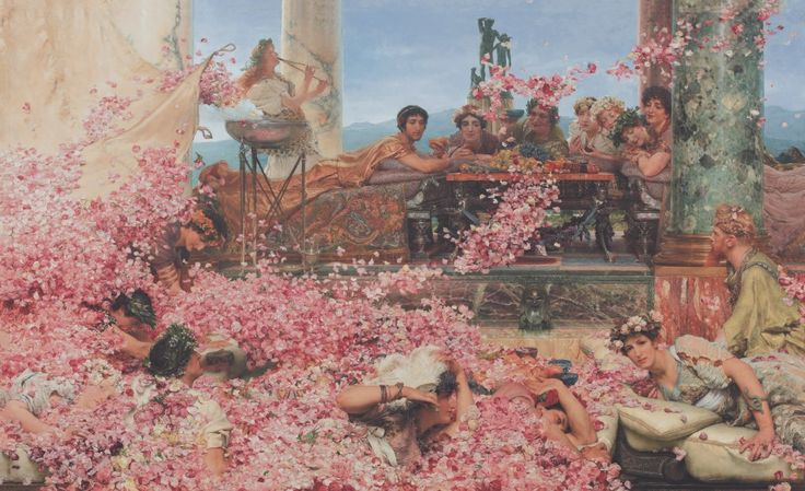 Lawrence Alma-Tadema, The Roses of Heliogabalus, 1888 Colección Pérez Simón, Mexiko, Foto: © Piera, Arturo Öl auf Leinwand, 132,7 x 214,4 cm