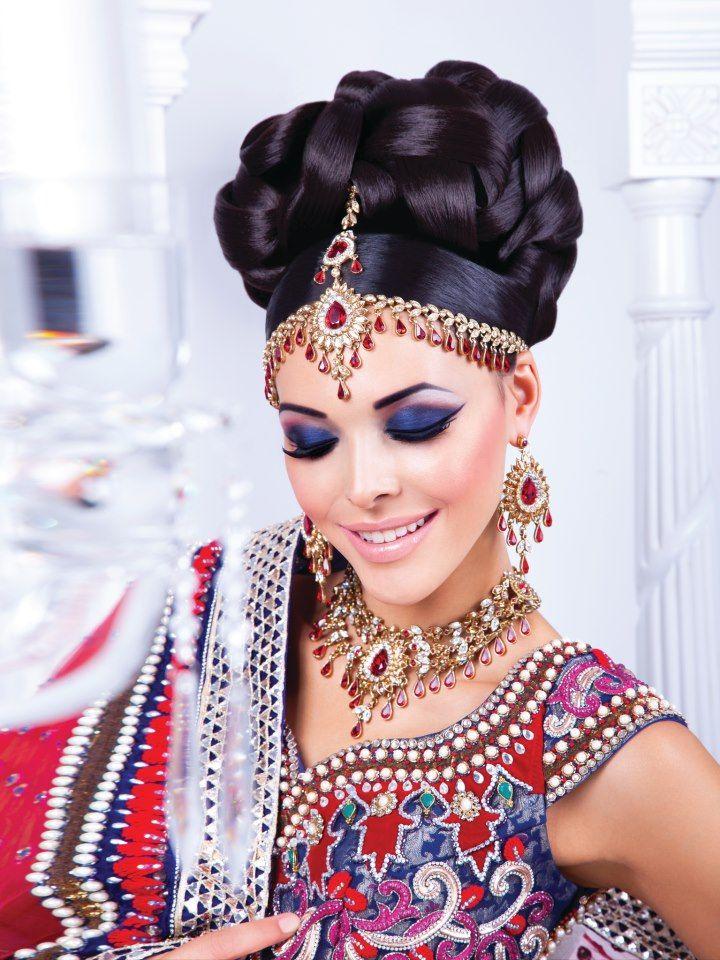 wedding makeup, Bridal hair, wedding updo, MUA by:Zaiba Khan ...