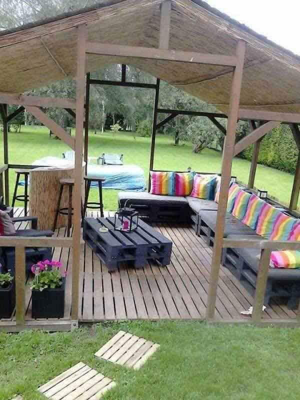 Outdoor Patio Furniture Made From Pallets best 25+ pallet patio decks ideas on pinterest | wooden patios