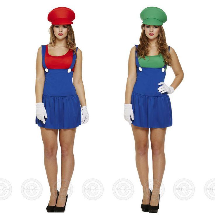Super #workwoman 80s mario luigi #style fancy dress costume cartoon #womens plumb,  View more on the LINK: http://www.zeppy.io/product/gb/2/301712216324/