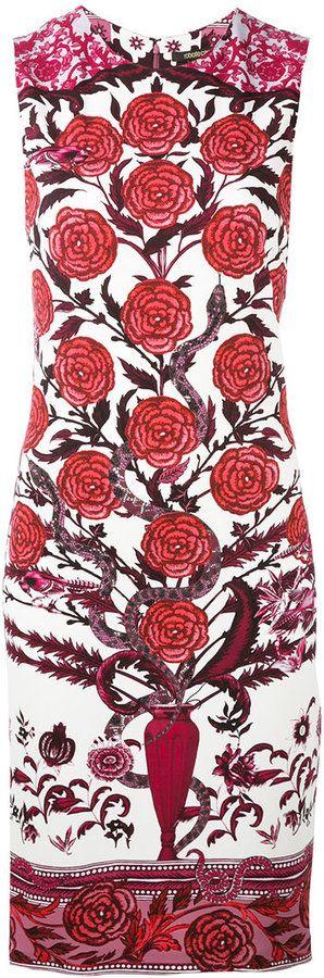Roberto Cavalli - robe cintrée imprimée - women - Spandex/Elasthanne/Viscose - 50