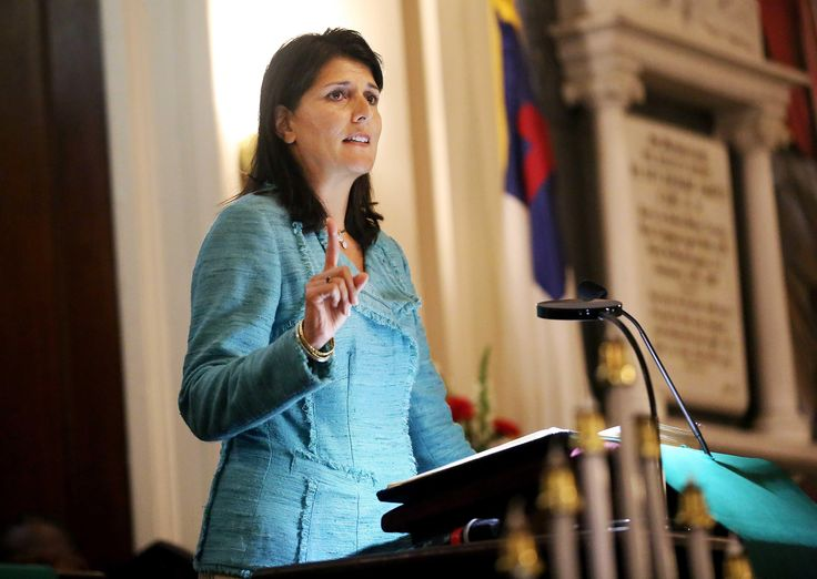 South Carolina Gov. Nikki Haley is set to join those calling on state lawmakers to remove the confederate flag from a war memorial on the state capitol grounds.
