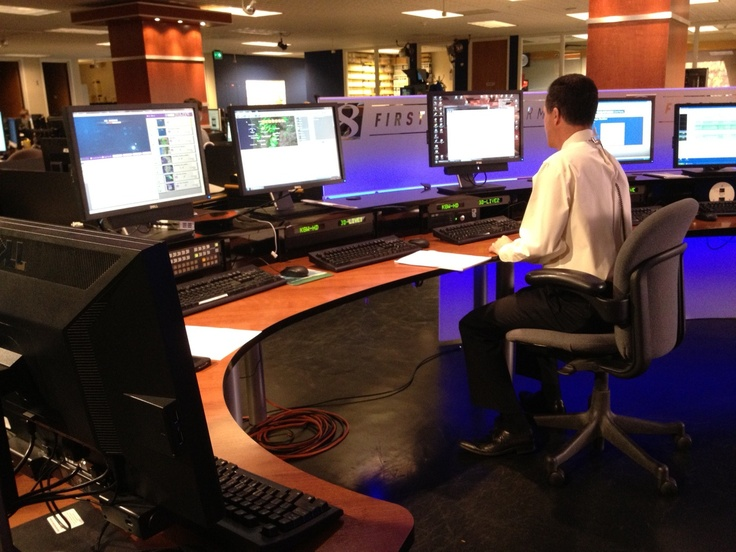 Matt Zaffino hard at work in the home of the First Alert Storm Team. www.kgw.com/weather ...