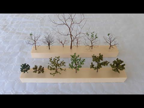 (6) Cómo hacer árboles para maquetas - How to make trees for models - YouTube