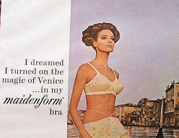 Vintage Print Ad Classic Maidenform Bra 60s by retrovisions, $11.00Maidenform Bra, Bra 60S