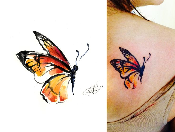 I find that people pin my watercolor paintings all the time for tattoo inspiration and I truly don't mind at all.  I only wish that if someone gets a tattoo using my art that they would send me a picture because I would LOVE to see it!!!   Please!
