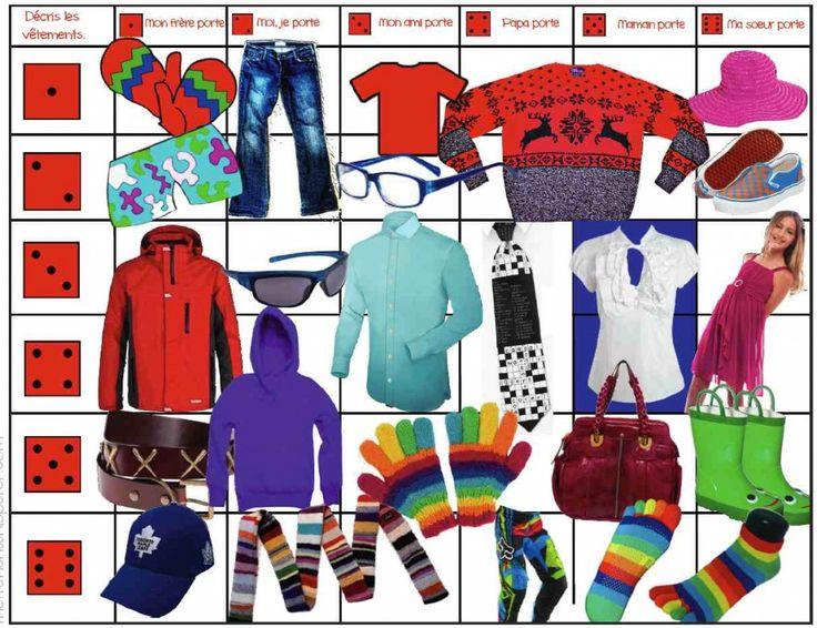 jeu: les vêtements