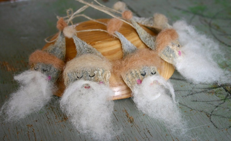 Wabi-Sabi Wanderings: Milkweed Pod Gnomes/Santas/Elves