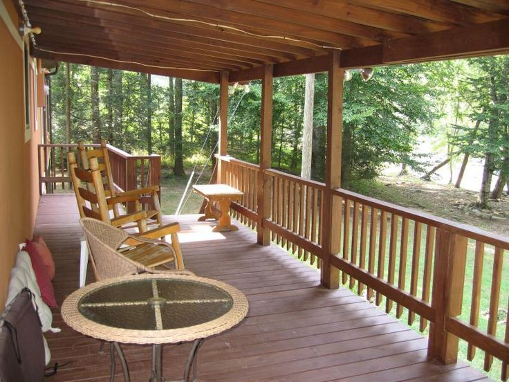 Diy closed in decks deck covered porch pictures for Covered porch flooring options
