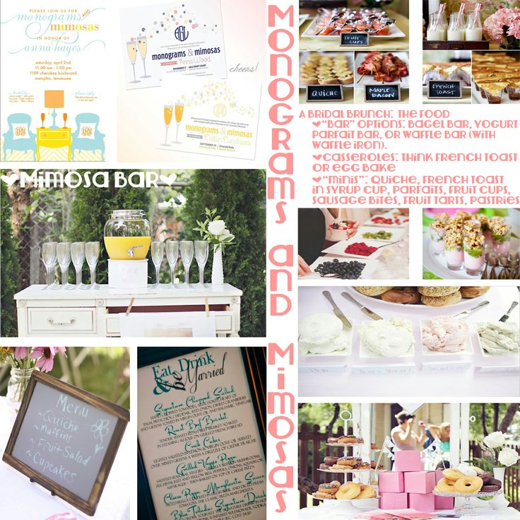 Monograms And Mimosas Hosting A Themed Bridal Shower