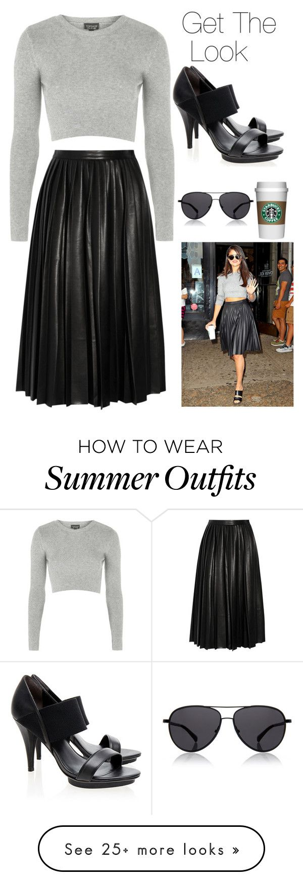 """""""Get Selena Gomez look"""" by milauren00 on Polyvore featuring By Malene Birger, Topshop, UN United Nude and The Row"""