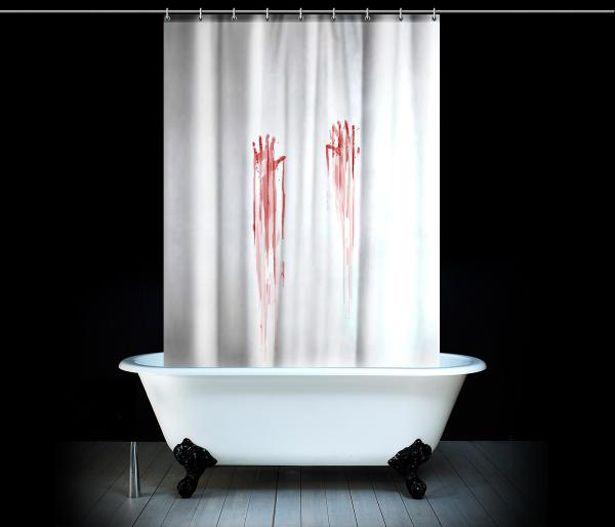 Cortinas De Baño Halloween:Blood Bath Shower Curtain