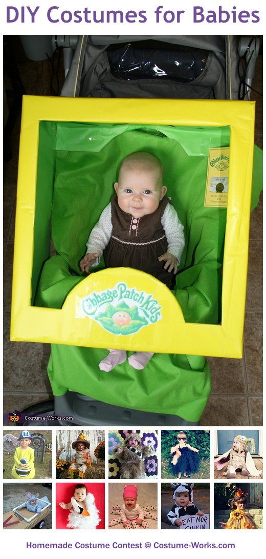Homemade Costumes for Babies - a huge gallery of DIY Halloween costumes! oh my gosh @Crystal De La Cruz the cabage patch baby costume is perfect for JD