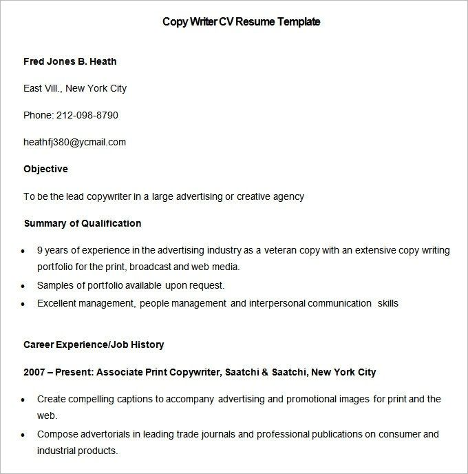 Inspiring Resume Copy And Paste Template Collection