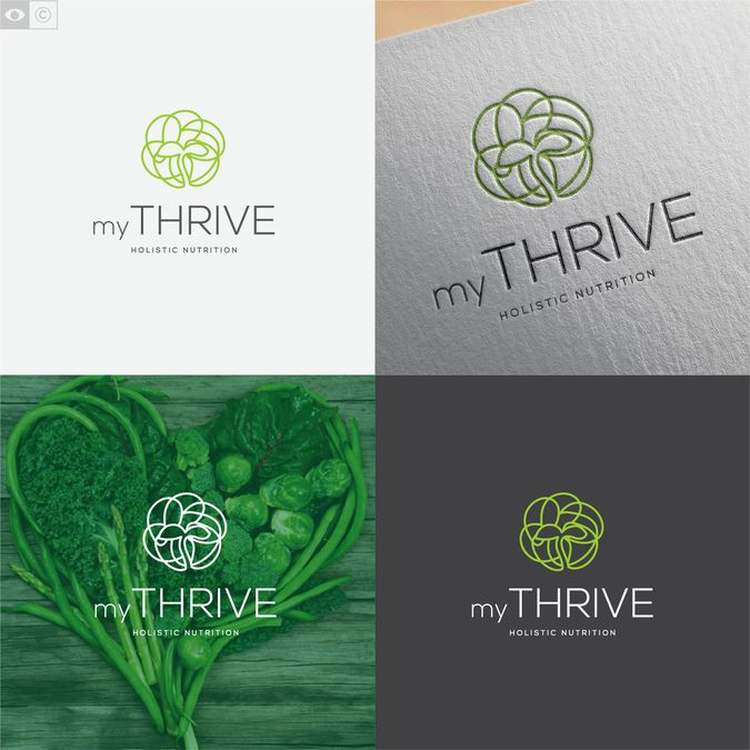 Logo design for myTHRIVE, holistic nutritionists by enfant terrible