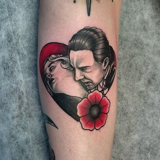 Fun Bela Lugosi Dracula tattoo from this afternoon.