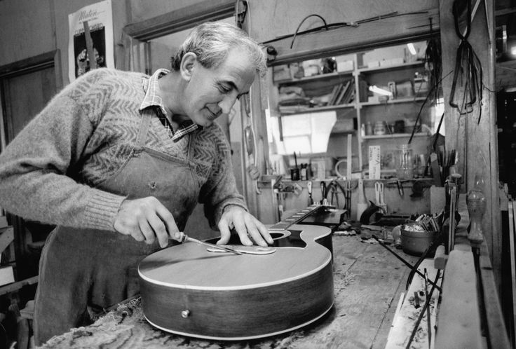 John Mortlock at the Maton Guitar factory in Canterbury