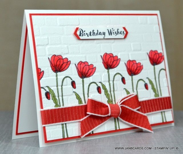 Stampin Up Painted Poppies In 2020 Poppy Cards Birthday Cards Cards