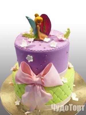 Торт для девочек Фея Динь-Динь