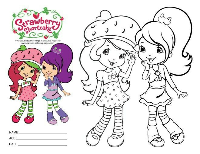 Free Coloring Pages Of Strawberry Cake 12345