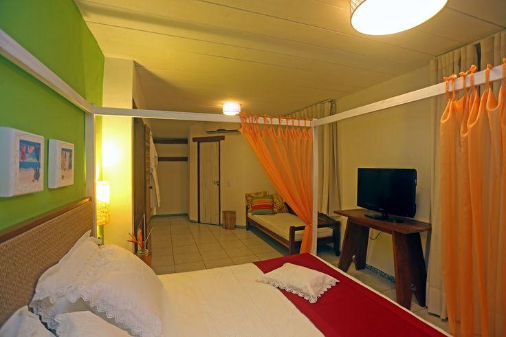 Mais detalhes de nossa suite e seu layout - Cama com dossel