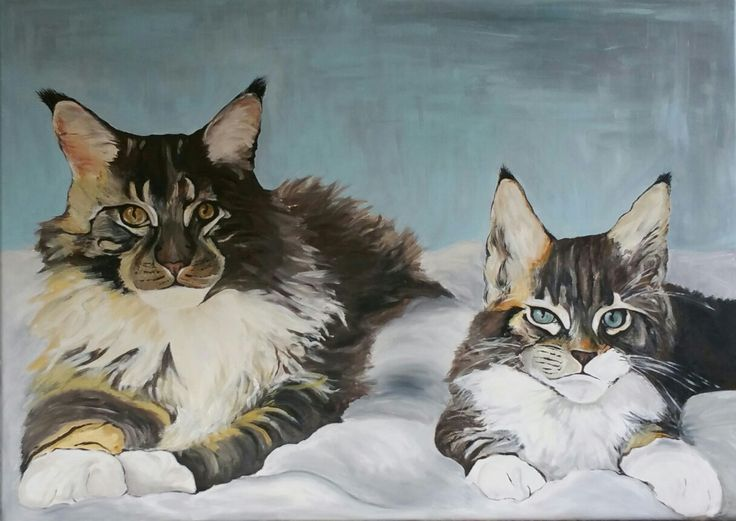 Cats 50x70cm Acrylic on paint