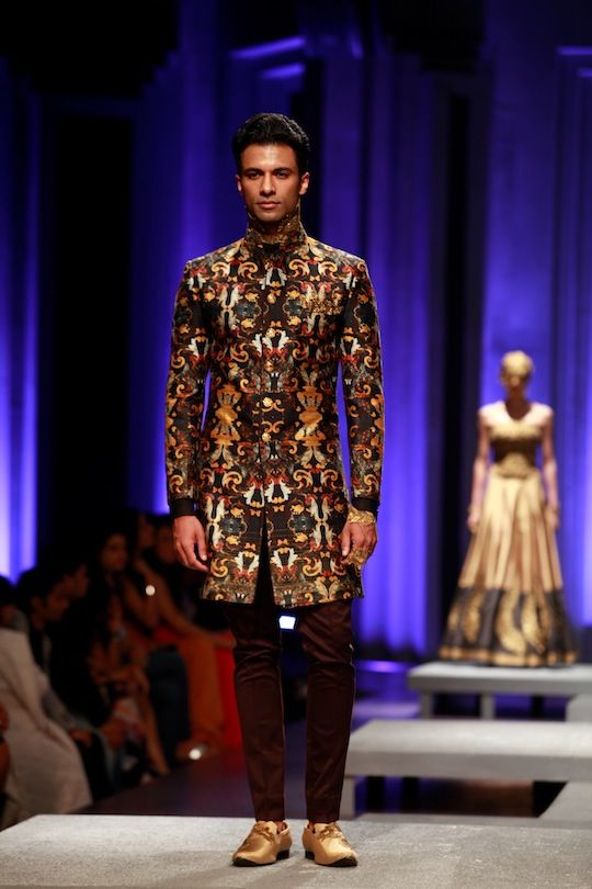 A model at the Amby Valley India Bridal Fashion Week 2013. #Fashion #Style #Beauty