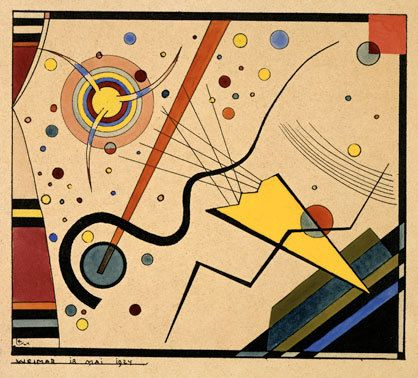 Wassily Kandinsky abstract - what do you see? can you identify the face?