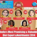 Celebrity Nutritionist Pooja Makhija, Shonali Sabherwal, Dr. Anjali Mukerjee, Ms Shubi Husain, Ms.Rujuta Diwekar in the race for India's Most Promising