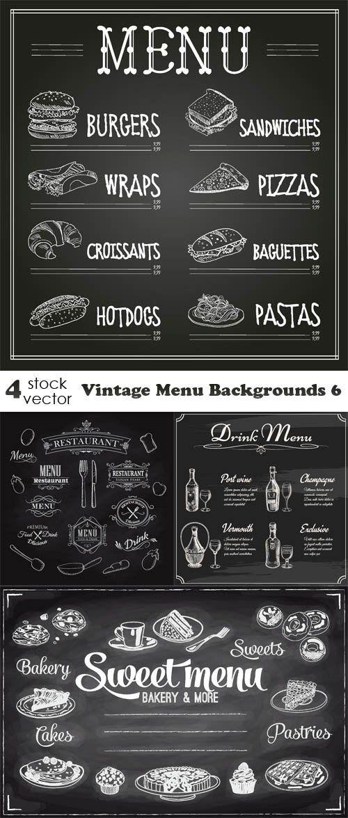 Vectors - Vintage Menu Backgrounds 6