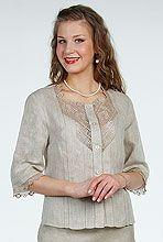 Блуза модель 64-6 - РОССИЙСКИЙ ЛЕН интернет магазин фабрики Ришелье
