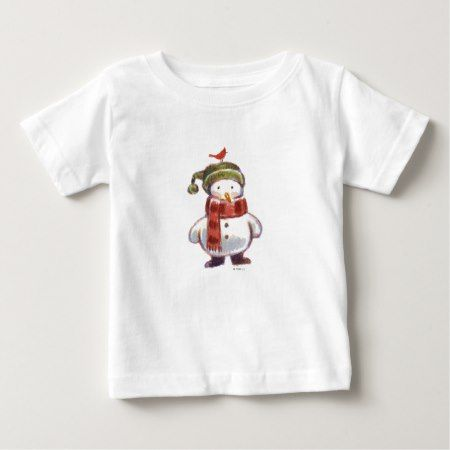 Cute Snowman Baby T-Shirt - tap to personalize and get yours