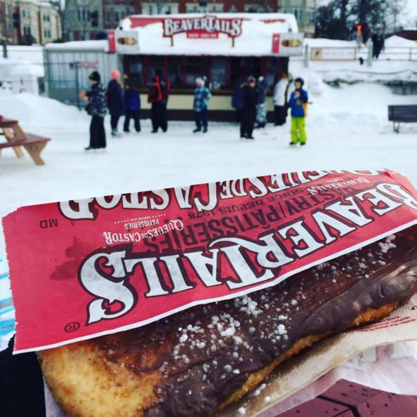 'It's a deep fried dough pastry made to resemble a beaver's tail. But that's not even the best part. You can top it with ANYTHING: Nutella, Reese's Pieces, gummies, peanut butter, jelly, Skor…. it goes on and on. You can't get more Canadian than a Beavertail.'– tanyat4b8e36994*Beavertails are also available in other places around Canada, such as Banff National Park in Alberta, British Columbia