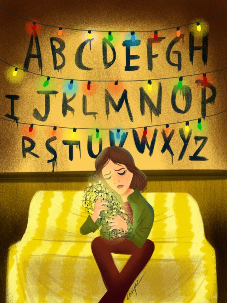 "Some fan art of ""Stranger Things"" on Netflix. artbycheyne.tumblr.com"