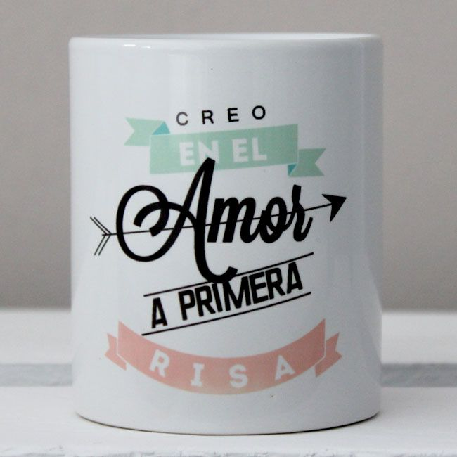 "Tazas en Castellano : Taza ""Amor a primera risa"""