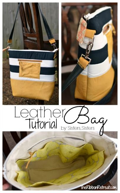 Sew a Striped Leather Bag - Free Tutorial