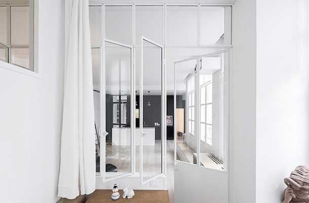Delade rum av glas. (via Bloglovin.com )
