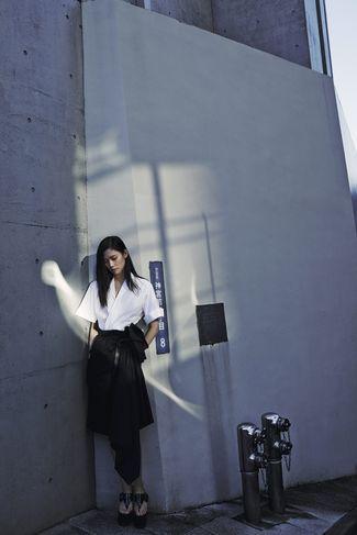 'Un peu de tenue... l'épure japonaise' (M le Magazine du Monde Janvier 2014), Tao Okamoto shot by Cédric Bihr.