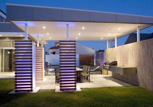 bbq deck garden stunning landscape house
