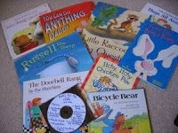 Record myself reading the books I give them and give them the CD along with the books.