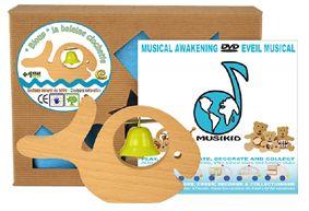 La baleine clochette,hochet musical